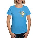 Pirate Egghead Pocket Image Women's Dark T-Shirt