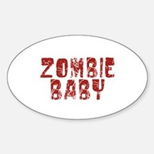 Zombie Baby Oval Decal