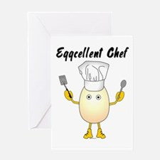 Eggcellent Chef Greeting Card