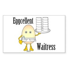 Eggcellent Waitress Rectangle Decal