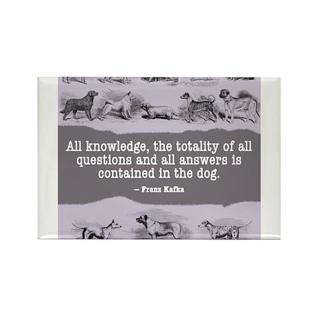 Kafka Dog Quote Rectangle Magnet