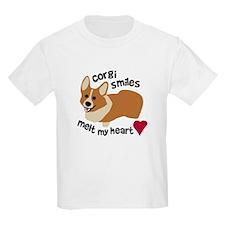 Corgi Smiles Melt My Heart T-Shirt