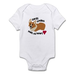 Corgi Smiles Melt My Heart Infant Bodysuit