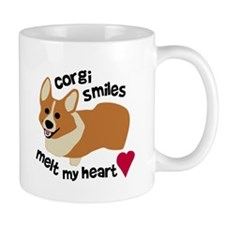 Corgi Smiles Melt My Heart Mug