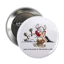"Cute Viking beer 2.25"" Button"