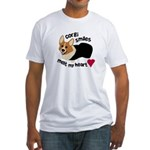 Corgi Smiles RHT Fitted T-Shirt