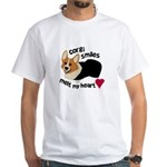 Corgi Smiles RHT White T-Shirt