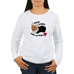 Corgi Smiles RHT Women's Long Sleeve T-Shirt
