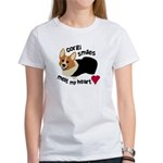 Corgi Smiles RHT Women's T-Shirt