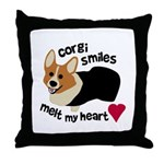 Corgi Smiles RHT Throw Pillow