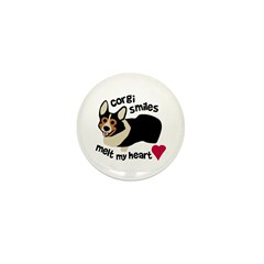 Corgi Smiles BHT Mini Button (10 pack)
