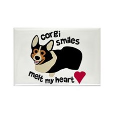 Corgi Smiles BHT Rectangle Magnet