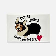 Corgi Smiles BHT Rectangle Magnet