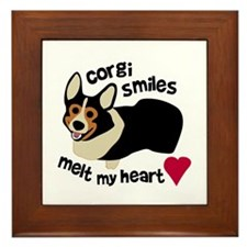 Corgi Smiles BHT Framed Tile
