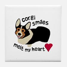Corgi Smiles BHT Tile Coaster