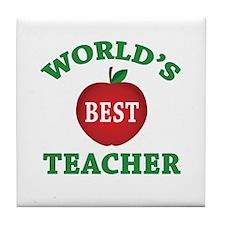 World's Best Teacher Tile Coaster