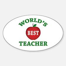 World's Best Teacher Oval Decal