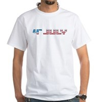 4th July Flag White T-Shirt