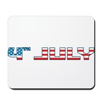 4th July Flag Mousepad