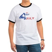 4th July Grunge Ringer T