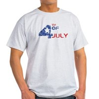 4th July Grunge Light T-Shirt