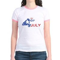 4th July Grunge Jr. Ringer T-Shirt