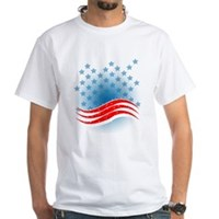 4th July - Independence Day - American Flag White