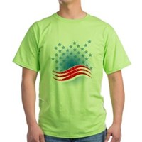 4th July - Independence Day - American Flag Green