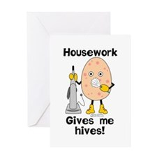 Housework Greeting Card