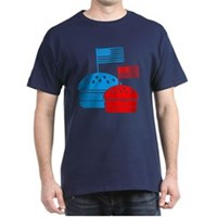 American Flag Burger Dark T-Shirt