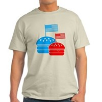 American Flag Burger Light T-Shirt