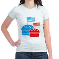 American Flag Burger Jr. Ringer T-Shirt