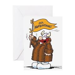 Go Barbarians! Greeting Card