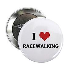 I Love Racewalking Button
