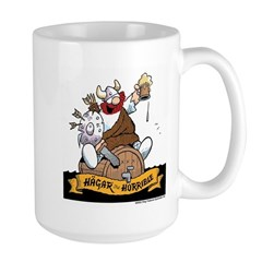 Hagar on Keg Large Mug