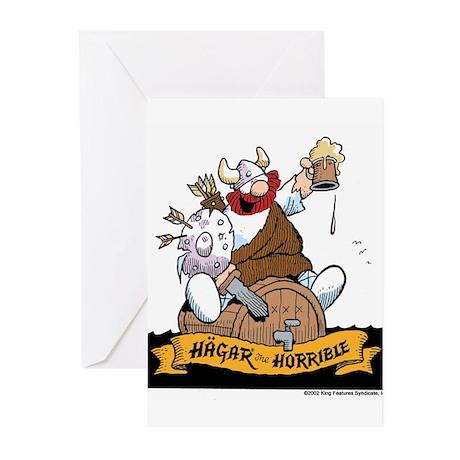Hagar on Keg Greeting Cards (Pk of 10)