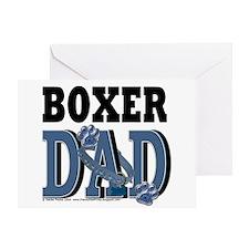 Boxer Dad Greeting Card
