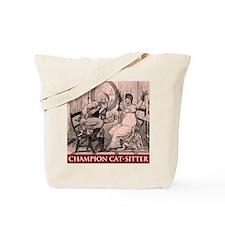 Cat Sitter Tote Bag
