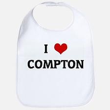 I Love COMPTON Bib