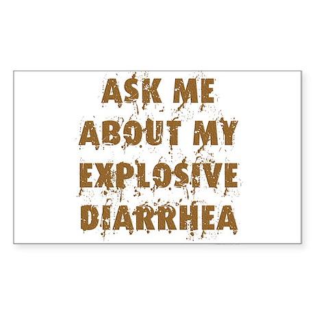 Explosive Diarrhea Rectangle Sticker