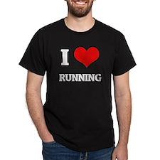 I Love Running Black T-Shirt
