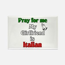 Pray for me my girlfriend is Rectangle Magnet (10