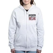 Boxer Mom Zip Hoodie