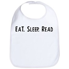 Eat, Sleep, Read Bib