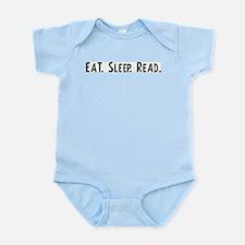 Eat, Sleep, Read Infant Creeper