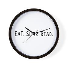 Eat, Sleep, Read Wall Clock