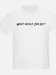 What would Jen do? Kids T-Shirt