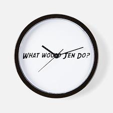 What would Jen do? Wall Clock