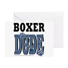 Boxer Dude Greeting Card