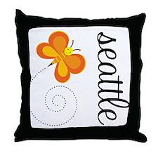 Seattle WA Whimsy Throw Pillow